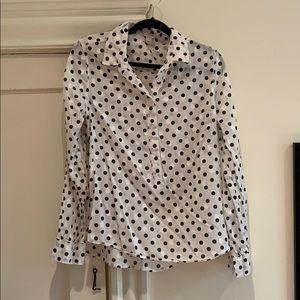 J.Crew Polka Dot Cotton Blouse ⚫️⚪️
